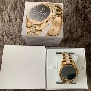 MK smart watch, Gold with crystals.